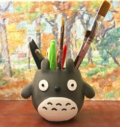 Totoro, 3D Printed, Holiday Gift, Garden, Geek, Home Decor, Girls Gift, Succulents, Flower Pot, Organizer, Pencil Holder by Meow3DStore on Etsy https://www.etsy.com/listing/504014435/totoro-3d-printed-holiday-gift-garden