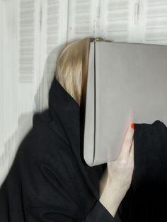 TSATSAS — BIKO portfolio bag in grey natural calfskin leather. Fashion Accessories, Cold, Store, Natural, Grey, Womens Fashion, Leather, Bags, Gray
