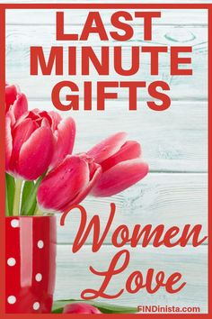 Last Minute Gift Ideas for Her - Need a great quick-shipping gift for a woman?  Quick to see 30  awesome last-minute gifts that are perfect for Mom, Grandma, your wife or another special female.  #giftsforher #giftideas #FINDinista