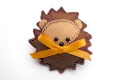 Felt Hedgehog Brooch, Hedgehog Brooch, Felt Brooch, Felt Hedgehog, Felt Hedgehog Pin. £8.50, via Etsy.