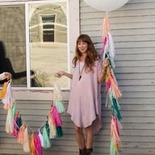 10 unids 35 mm tejido de las borlas de papel Garland decoración de la boda de artesanías fiesta de cumpleaños inicio eventos festivo suministros globos cinta(China (Mainland))