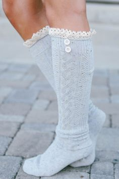 We love the comfy look and feel of our Speckled Boot Sock! One size fits all!