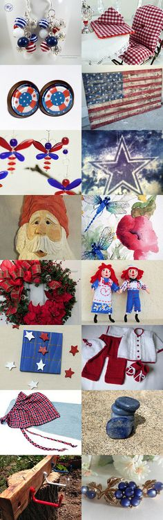 Red, White and Blue for Labor Day by Kathy on Etsy--Pinned+with+TreasuryPin.com