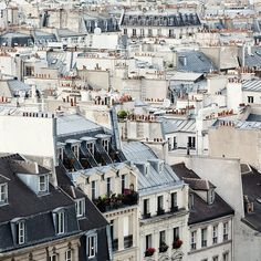 Paris rooftops....Inspiration for your Paris vacation from Paris Deluxe Rentals