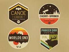 neat badge designs adventure club Justin Pervorse