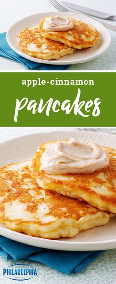 Apple-Cinnamon Pancakes – Fill your home with the sweet aroma of this cozy breakfast or brunch recipe! These fall-themed pancakes are sure to get your family out of bed fast on the weekend. Plus, this dish is ready in just 30 minutes.