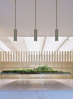 Hangzhou Vanke Sales house / More Design Office (MDO) - 谷德设计网 Contemporary Interior Design, Contemporary Architecture, Japanese Living Rooms, Asian Interior, Lobby Interior, Artistic Installation, Lobby Design, Water Features In The Garden, Space Architecture