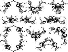 Floral Vector Set Free Illustrator vectors