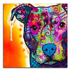 Update your home with this stylish decor, which gives any room a lively updated atmosphere. Decorate your home with a piece from our Colorful Animals collection. This canvas print is made with archiva