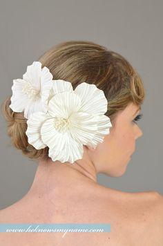 Wedding Accessories Bridal Hair Flower Headpiece by heknowsmyname, $94.00