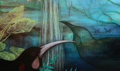 """Artwork original paintings and limited edition prints """"I use birds to tell stories or portray feelings, the shadow birds connecting the past. Art Maori, Maori Designs, Nz Art, Painting Inspiration, Photo Art, Cool Art, Original Paintings, Birds, Artwork"""