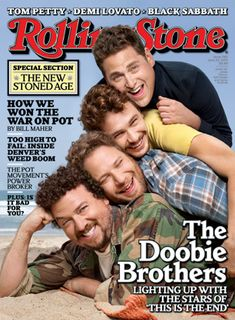 Jonah Hill, James Franco, Seth Rogen and Danny McBride  on the cover of Rolling Stone