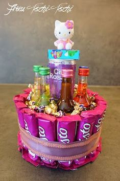 Tschi-Tschi: Candy - Cake for birthday Ms. Tschi-Tschi: Candy - Cake for . Tschi-Tschi: Candy – Birthday Cake This image has ge - Candy Birthday Cakes, Diy Birthday Cake, Birthday Cakes For Women, Candy Cakes, Birthday Cake Decorating, Birthday Gifts For Her, Birthday Presents, It's Your Birthday, Birthday Cards