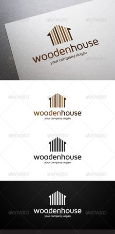 Wooden House Logo  #GraphicRiver