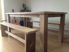 Scaffold Board Table & Benches | eBay