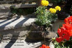 """Karte Sprüche Zitate """"Wanderschuh"""" von PHOTOGLÜCK auf DaWanda.com"""