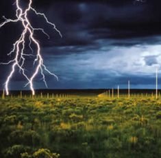 """""""The Lightning Field by Walter De Maria is decades old but still holds sway as one of the most powerful earth and air art installations of our time. Evenly spaced lightning rods are spread out over a kilometer of low-grassed ground and visitors are encouraged to stroll leisurely through this huge lightning-attracting park – perhaps to catch a glimpse of lightning close up."""""""