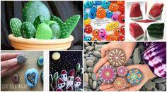 10 πρωτότυπες ιδέες τέχνης με πέτρες και βότσαλα   SunnyDay Projects To Try, Stone, Rock, Stones, Batu