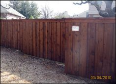Dark Fence Stain Wood Stained