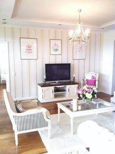 White cosy living area