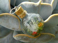 Quartz Cluster Rond Glass bottle Pendant by ThePurpleArtichoke7
