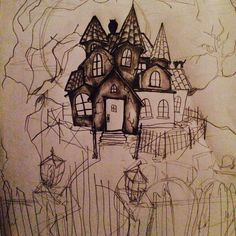 Dead tree good one trees Haunted house drawing ideas