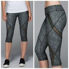 Lululemon cool to the street crops Breathe easy in your sweatiest classes-added mesh ventilation in the crops lets you blow off steam. Sweat-wicking full on Luxtreme fabric is a four way stretch and has an interlock construction, offering great support and coverage with a cool, smooth feel. Stash your lip balm, cards or keys in the waistband pocket. Tight fit medium rise. NWT gator green color. lululemon athletica Pants Ankle & Cropped