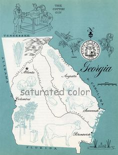 Georgia - 1960s picture map