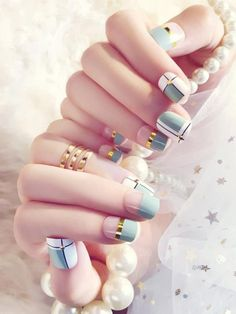 Stunning Striped Nails Art Ideas for Prom ❀ - Diaror Diary - Page 37 ♥ 𝕴𝖋 𝖀 𝕷𝖎𝖐𝖊, 𝕱𝖔𝖑𝖑𝖔𝖜 𝖀𝖘!♥ ♡*♥ ♥ ♥ ♥ ♥ ♥ ♥ ♥ ♥ ♥ ♥ ღ♥Hope you like this collection about striped nails! ღ♡*♥ 𝖘𝖙𝖚𝖓𝖓𝖎𝖓𝖌 𝖘𝖙𝖗𝖎𝖕𝖊𝖉 𝖓𝖆𝖎𝖑𝖘 𝖉𝖊𝖘𝖎𝖌𝖓 ♡*♥ ღ Square Nail Designs, Blue Nail Designs, Cool Nail Designs, Acrylic Nail Designs, Acrylic Art, Acrylic Nails, Cute Summer Nail Designs, Cute Summer Nails, Summer Toenails