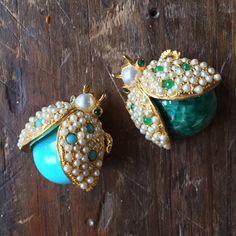 Vintage Hattie Carnegie Ladybug Costume Jewelry Pin