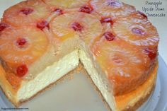 Pineapple Upside Down Cake and Cheesecake. Best of 2 Worlds in one. Great Desserts, Köstliche Desserts, Delicious Desserts, Dessert Recipes, Yummy Food, Fodmap, Pineapple Desserts, Pineapple Cheesecake, Pineapple Upside Down Cheesecake Factory Recipe