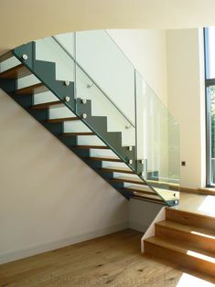 Inspiring Floating Staircase Kit Decoration Using Clear Glass Staircase Railing Including Glass And Wooden Pics 75