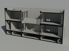 Casa Azuma, Row House Design, Tadao Ando, Autocad, 1 Year, Shelving, Home Decor, Barbie House, Shelves