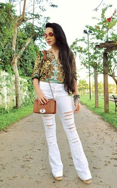 Zebra Trash - Clara Campelo: Look: Jeans Rasgado