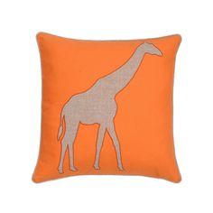 Windsong Giraffe Throw Pillow, Orange