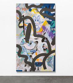 """Kalypso"" #KLUB7 - 2016 #acryllic #painting on #canvas 160 x 280 cm #berlin #contemporary #art #berlinart #graffuturism #abstractart #nuffiti #posturban #neograffiti"