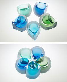 otsuki glass studio in 2020 Clear Glass, Glass Art, Jewellry Box, Bottle Art, Recycled Glass, Sculpture, Tea Lights, Vase, Ceramics