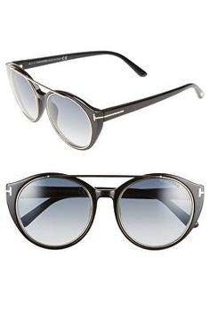 9bfc50d27fc2 TOM FORD Designer  Joan  52mm Round Sunglasses Italian Sunglasses