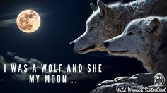 I was a wolf and she my Moon .. WILD WOMAN SISTERHOOD™ #moon #wildmoonwoman #wild #wildwoman #wildwomansisterhood™