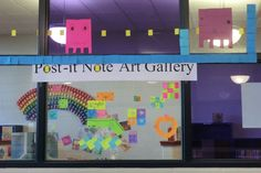 Post-It Fun at the Branch