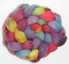 Handpainted Roving  Happily Ever After  by LittleLibellule on Etsy
