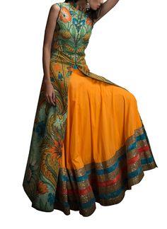Indian Fashion Designers - Siddartha Tytler - Contemporary Indian Designer Clothes - Lehengas - ST-SS14-BA13-JCKT-001-SKRT-001 - Gorgeous and Vibrant Lehenga Set