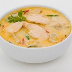 Thai Style Chicken Coconut Soup and more paleo chicken soup recipes on MyNaturalFamily.com #paleo #chicken #recipe