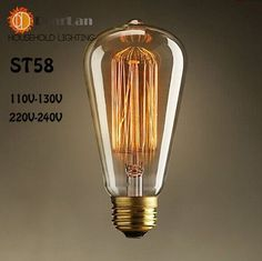 Wholesale Price,Vintage Creative Edison Bulbs,Incandiscent Light Bulbs For Decoration Of Living Room,Bedroom, ST64/A19/G80(71%)