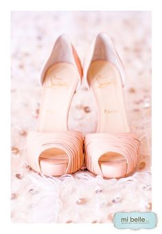 Christian Louboutin Pink Wedding Shoes = heaven!!