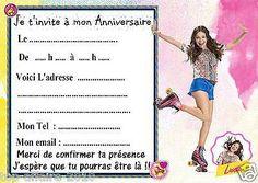 5 cartes invitations anniversaire Soy Luna 01