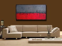 abstract painting Textured impasto large canvas by baronvisi, £140.00