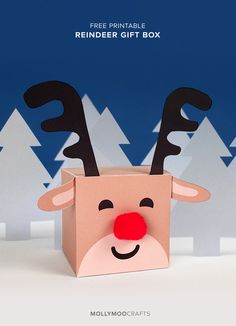 Printable Reindeer Gift Box