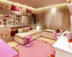 Most Funky and Beautiful Girly Teen's Bedroom for Stylish Teenagers   Ideas, Designs, Pictures