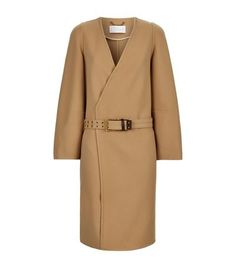 CHLOÉ Belted Cashmere Coat. #chloé #cloth #